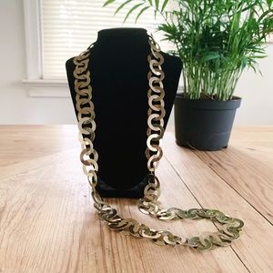 VIntage | Gold Tone Chunky Circular Chain Necklace